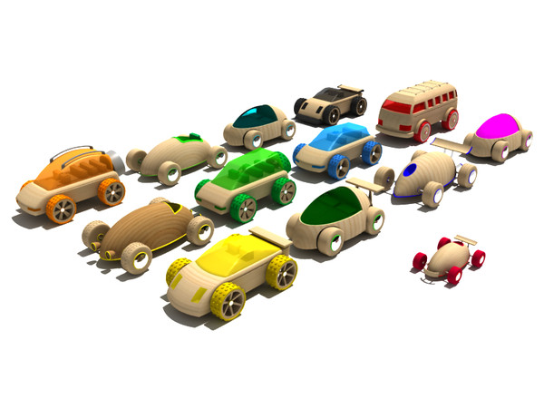 toy car obj - Wooden toy car collection... by gile.073